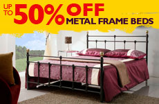 50% off Metal Frame Beds