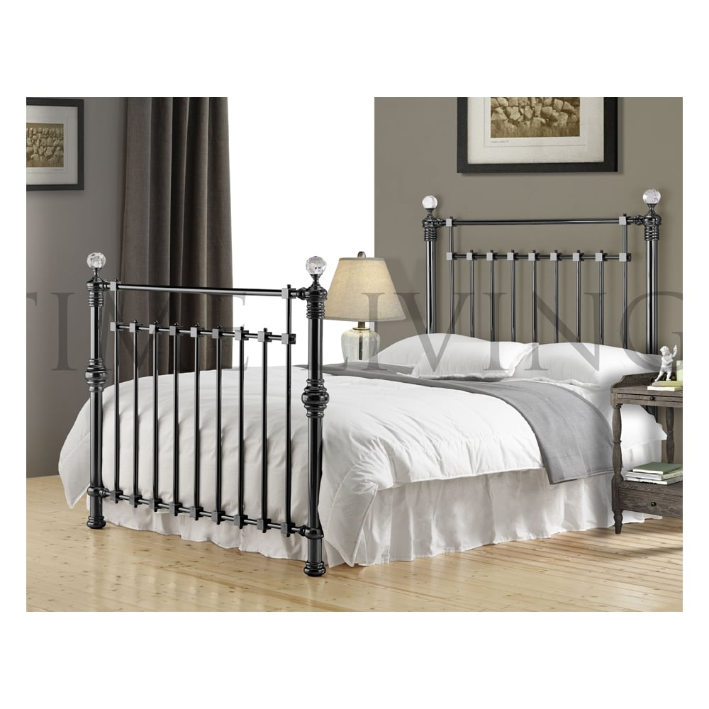 Time living exclusive edward crystal 6ft super king size for Exclusive beds