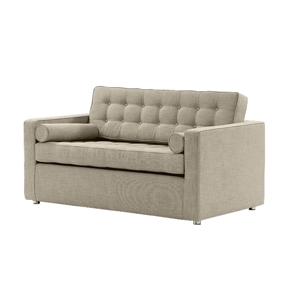 Blue Suntree Manhattan Sofa Bed Linen Mix Natural Stone