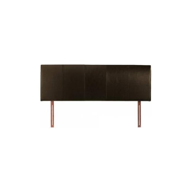 4ft6 Double Headboard Brown Faux Leather - Hamburg