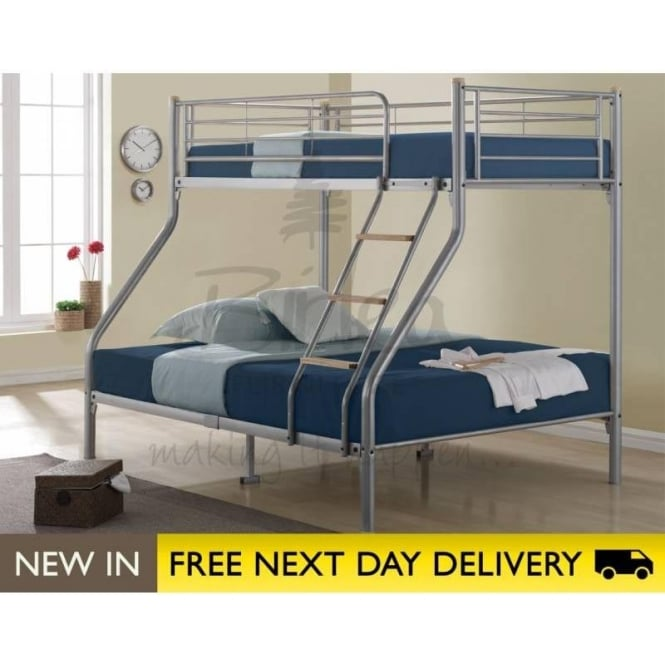 Birlea Beds Nexus Silver Metal Bunk Bed NEXBB