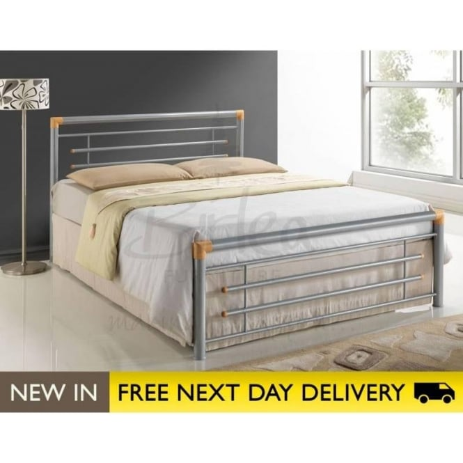 Madrid Silver 4ft Small Double Metal Bed MADRB4