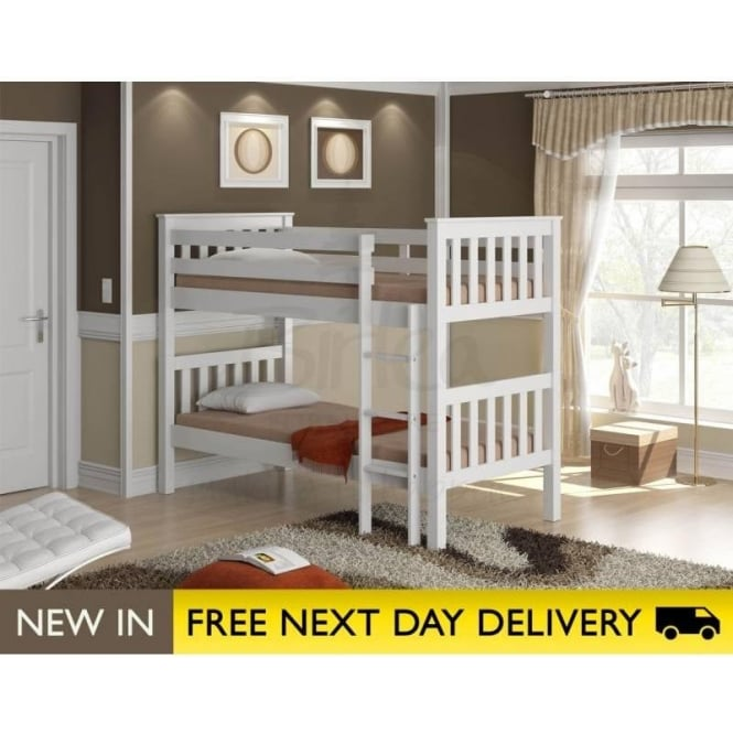 Birlea Beds Seattle Ivory Wooden Bunk Bed SEABBIVR