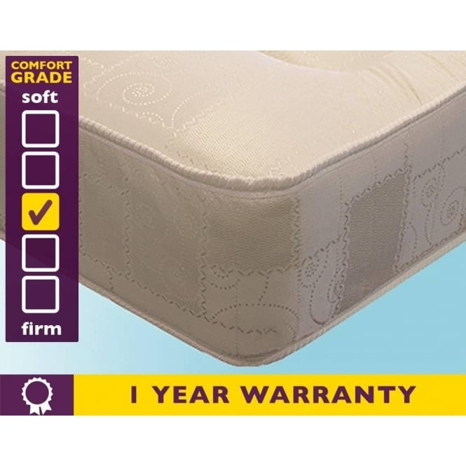 Slumber Sleep 3ft Single Deluxe Sprung Mattress