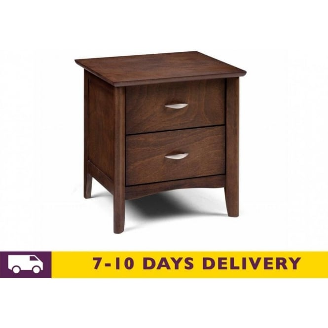 julian bowen minuet 2 drawer wenge bedside cabinet. Black Bedroom Furniture Sets. Home Design Ideas