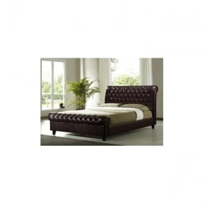 Richmond 6ft Super King Size Dark Brown Faux Leather Bed