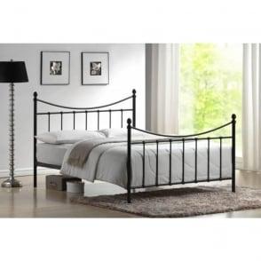 4ft Small Double Bed Black Metal - Alderley