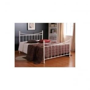 Alderley 5ft King Size Ivory Metal Bed