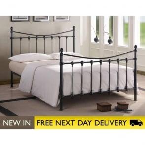 FLO5BK Florida 5ft King Size Black Metal Bed