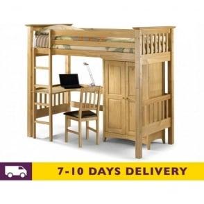 Bedsitter 3ft Single Solid Pine Bunk Bed