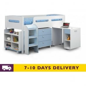 Kimbo Wooden Blue Cabin Bed