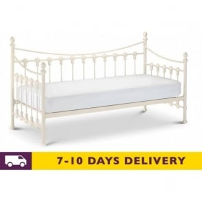 Versailles 3ft Single White Metal Daybed