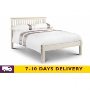 Barcelona 4ft6 Stone White Pine Low Foot End Double Bed
