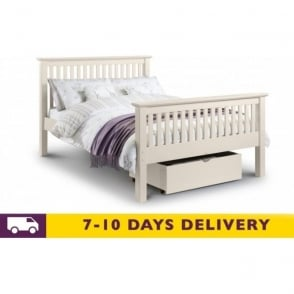 Barcelona 4ft6 Stone White Pine Double Bed