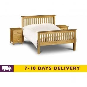 Barcelona 3ft Single Pine Finish Bed