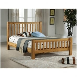 Denver Oak 5ft King Size Wooden Bed