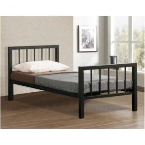Metro 3ft Single Black Metal Bed