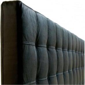 Taylor 6ft Super King Size Black Leather Bed