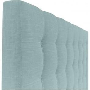 Taylor 5ft King Size Linen Mix Cloud Blue Bed