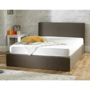 Stirling Ottoman 6ft Super King Size Hazel Brown Fabric Bed