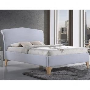 AND5SB Andorra 5ft Kingsize Sky Blue Fabirc Bed