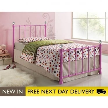 Birlea Beds Jessica 3ft Single Pink Metal Bed JESB3PNK