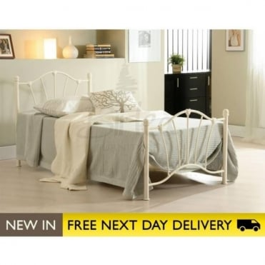 Birlea Beds Sophia 3ft Single Cream Metal Bed SOPB3CRM