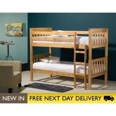 Birlea Beds Seattle Pine 3ft Wooden Bunk Bed SEABBPIN