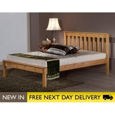 Birlea Beds Denver Pine 4ft6 Double Wooden Bed DENB46PIN