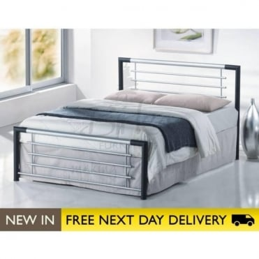 Birlea Beds Faro Black 4ft6 Double Metal Bed FARB46