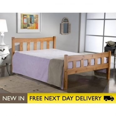 Birlea Beds Miami Pine 4ft6 Double Wooden Bed MIAB46PIN