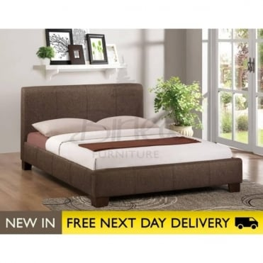 Birlea Beds Brooklyn Chocolate 4ft6 Double Fabric Bed BROFB46CHO