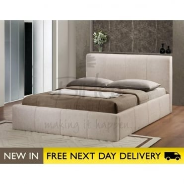 Birlea Beds Brooklyn Ottoman Wheat 5ft King Size Fabric Bed BROOT5WHE