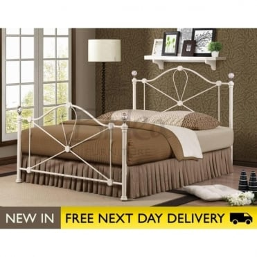 Birlea Beds Jasmine Cream 4ft6 Double Metal Bed JASB46CRM