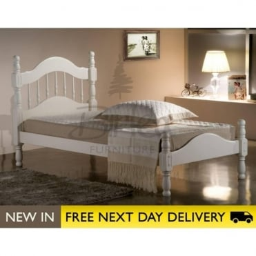 Birlea Beds Texas Ivory 3ft Single Wooden Bed TEXB3IVR