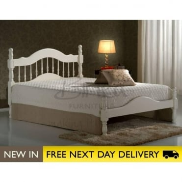 Birlea Beds Texas Ivory 4ft6 Double Wooden Bed TEXB46IVR