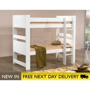 Birlea Beds Cube White Wooden Bunk Bed CUBBBWHT