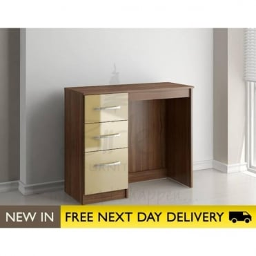 Birlea Beds Lynx Walnut & Cream 3 Drawer dressing table LYNDRWCM