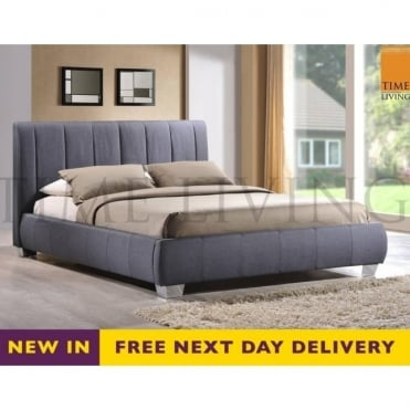 Braunston 5ft King Size Grey Fabric Bed