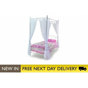 3ft Ballet White Four Poster Bed BALL30
