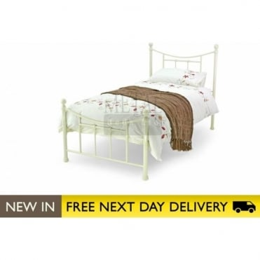 3ft Single Bed Ivory Metal - Bristol