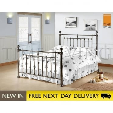 Alexander 4ft6 Black Nickel Double Bed ALE46BLK