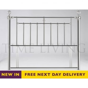 Alexander 4ft6 Double Chrome Plated Crystal Headboard