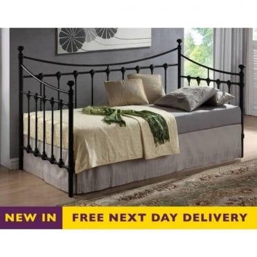 Florida 3ft Single Black Metal Daybed