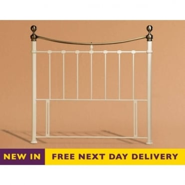Elizabeth 4ft6 Double Cream Metal Headboard
