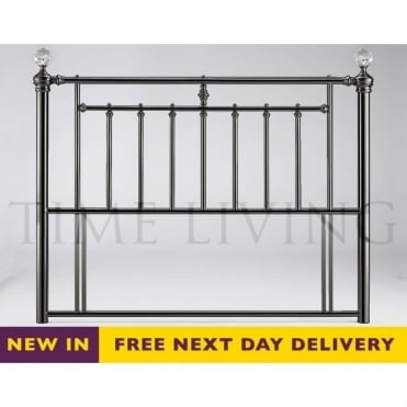 Alexander 4ft6 Double Black Nickel Crystal Headboard