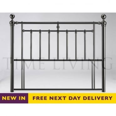 Alexander 4ft6 Double Black Nickel Headboard ALEHB46BLK
