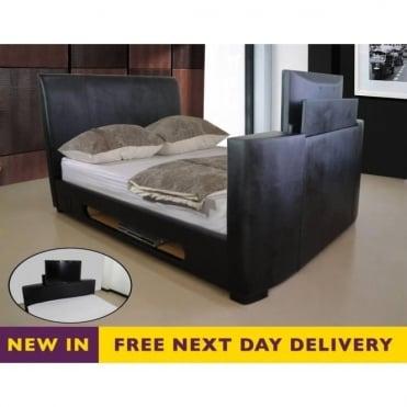 6ft Super King Size Black Sonic TV Bed