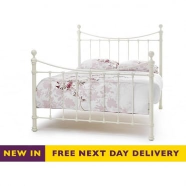 Double Ivory Gloss Ethan 4ft6 Bed ETHA460IVBED