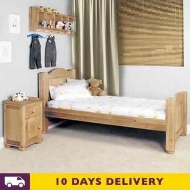 Amelie 3ft Single Oak Wooden Bed